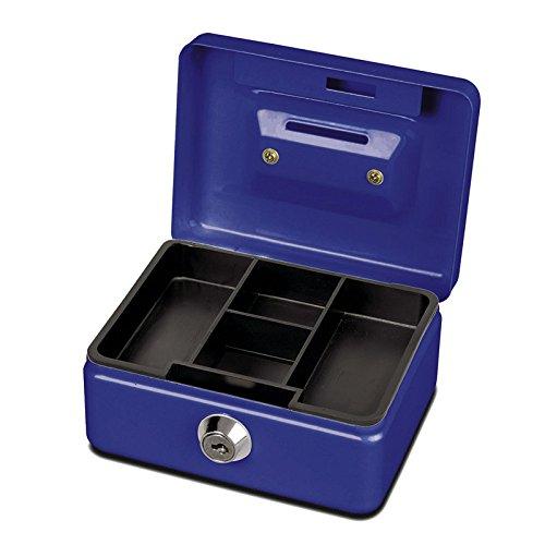 Maul Geldkassette, Münzeinwurf, Inklusive Hartgeldeinsatz, Abschließbar, 125 x 95 x 60 mm, Blau