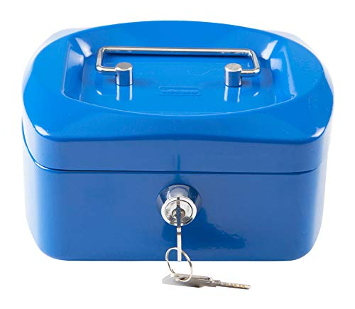 Idena 50027 - Geldkassette 6', Größe 155 x 120 x 90 mm, Farbe Blau, 1 Stück