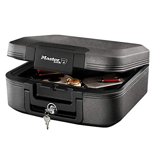 MASTER LOCK Sicherheitskassette [Feuer- und Wasserfest] [Medium] [Schlüsselschloss] LCHW20101 – Für Ausweise, A4-Dokumente, kleine Elektrogeräte, Juwelen usw.