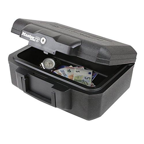 Feuerfeste Dokumentenbox Master Lock L1200, 36,2 x 28,4 x 15,5 cm, Schwarz