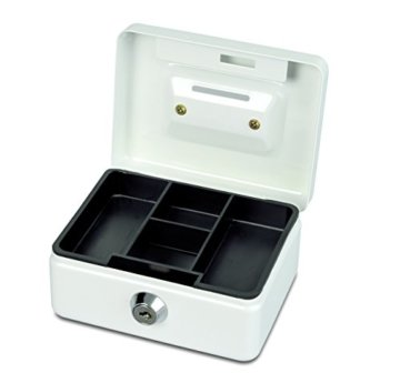 Maul Geldkassette, Münzeinwurf, Inklusive Hartgeldeinsatz, Abschließbar, 125 x 95 x 60 mm, Weiß - 2