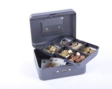 Sax 0-810-19 Geldkassette, B 20 x H 9 x T 16 cm, schwarz - 2
