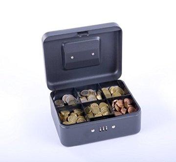 Sax 0-810-19 Geldkassette, B 20 x H 9 x T 16 cm, schwarz - 3