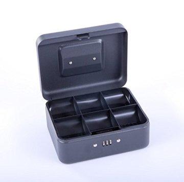 Sax 0-810-19 Geldkassette, B 20 x H 9 x T 16 cm, schwarz - 5