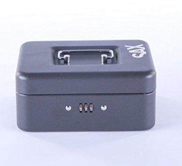 Sax 0-810-19 Geldkassette, B 20 x H 9 x T 16 cm, schwarz - 6